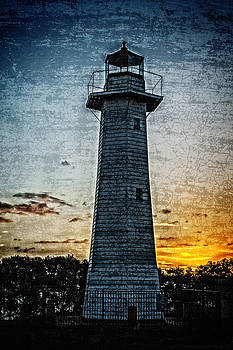 Cleveland Lighthouse at Sunset by Tony Steinberg