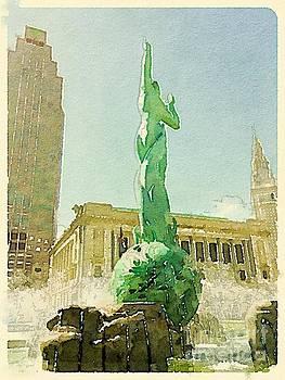 Cleveland War Memorial Fountain by Janet Dodrill