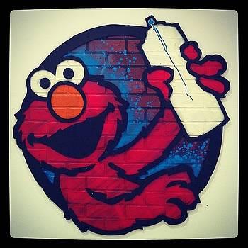 Click-clack Elmo. #sesamestreet by Andres Cruz