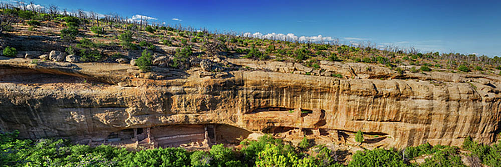 Cliff Dwelling Indian Ruins Panorama by James BO Insogna