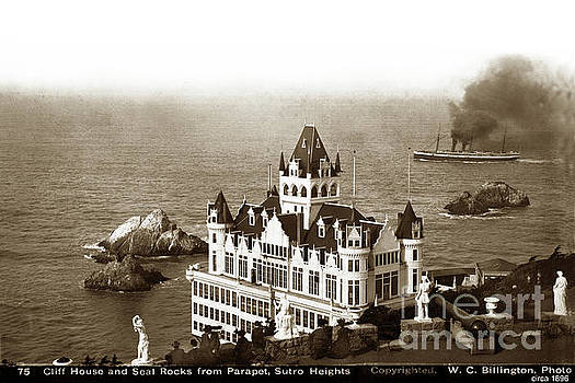 California Views Mr Pat Hathaway Archives - Cliff House and Seal Rocks from Parapet, Sutro Heights. 1896