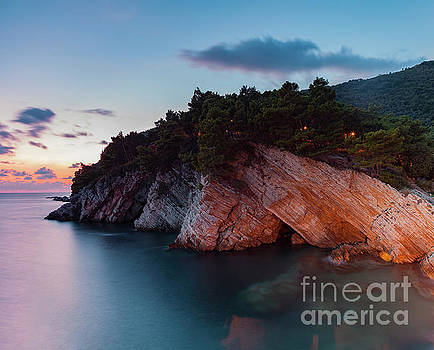 Cliff landscape at dusk by Sophie McAulay
