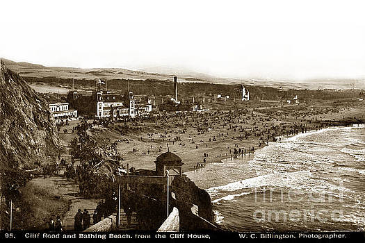 California Views Mr Pat Hathaway Archives - Cliff Road and Bathing Beach from the Cliff House circa 1895