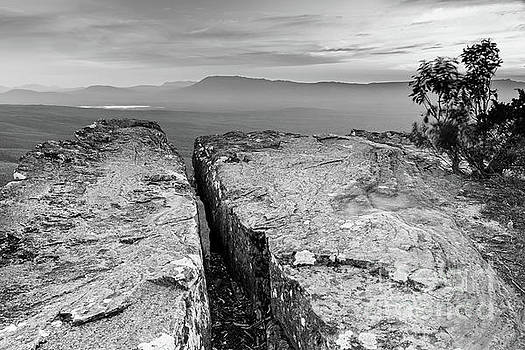 Cliff Top Black And White by Tim Hester