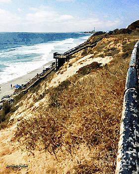 Cliff View - Carlsbad Ponto Beach by Rhonda Strickland