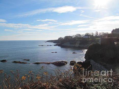 Cliff Walk Newport RI by Loretta Pokorny