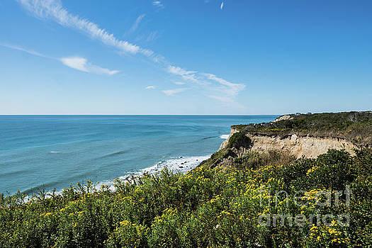Cliffs of Block Island Near Southeast Light Historic Lighthouse by Wayne Moran