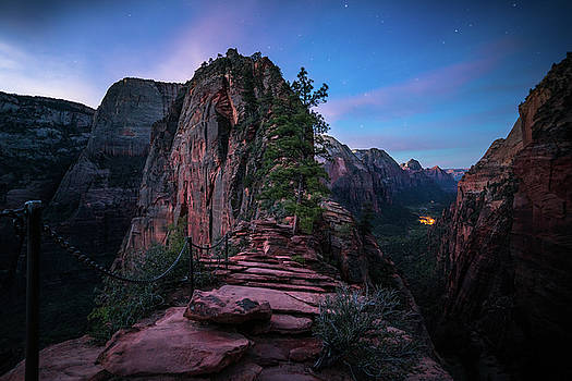 Climbing Angels Landing by James Udall