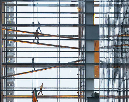 Climbing the Corporate Ladder - Comcast Center Philadelphia by Bill Cannon