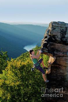 Dan Friend - Climbing the rock
