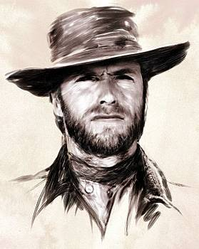 Clint Eastwood Portrait by Wu Wei
