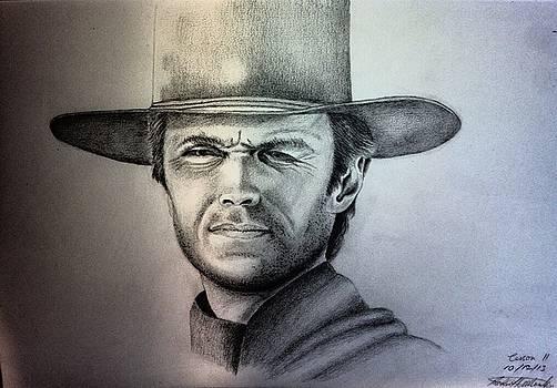 Clint Eastwood Portrait  by Robert Monk