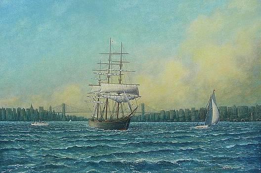 Clipper Leaving New York Harbor, 1884 by Michael Winston