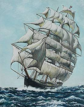 Clipper Ship Flying Cloud by Michael Winston