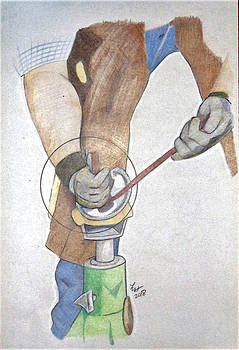 Clipping hooves by Loretta Nash