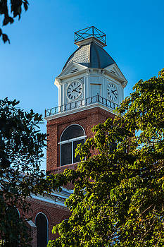 Clock Tower at the Monroe County Court House by Ed Gleichman