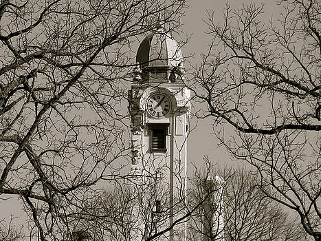 Sherri Williams - Clock Tower in Black and White