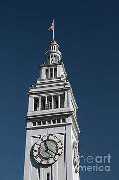 Clock tower of the train station in San Francisco by Amanda Mohler