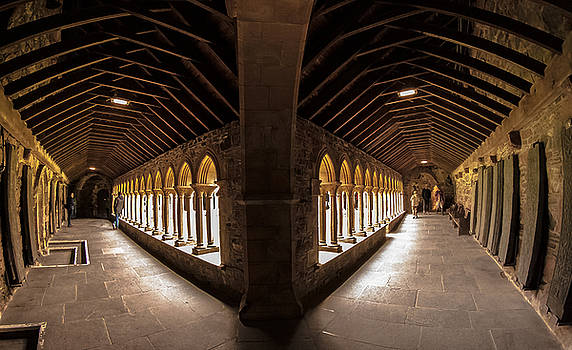 Cloisters on Isle of Iona by Kathleen McGinley
