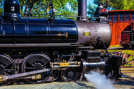 Close Up No 3 Steam Train by Garry Gay