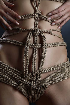 Rod Meier - Close up nude rope harness - Fine Art of Bondage