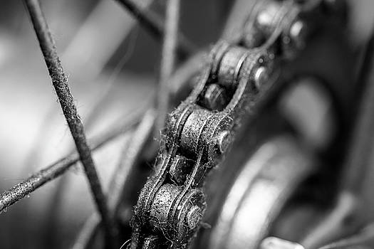 Jacek Wojnarowski - Close up of Bicycle Chain BW