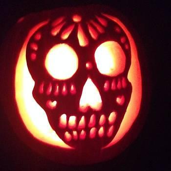 Close Up Of My Pumpkin. 🎃💀 by Elizabeth Dominguez
