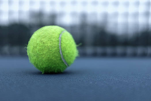 Close Up Tennis Ball by Doug Ash