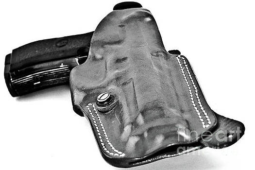 Closeup Of Holster and Automatic Pistol by Stefano Senise