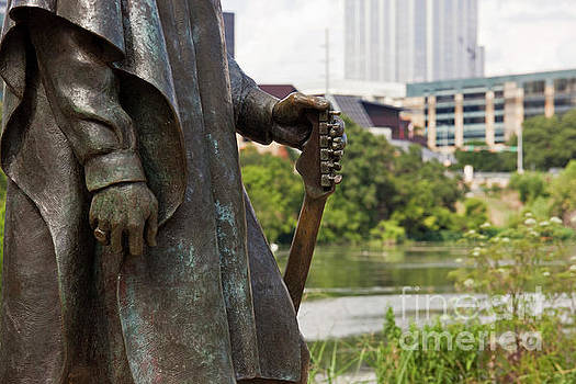 Herronstock Prints - Closeup of the Stevie Ray Vaughan statue located on Town Lake