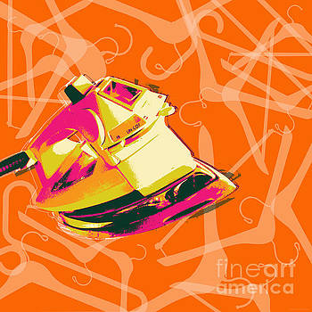 Clothes Iron Pop Art by Jean luc Comperat