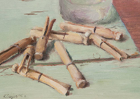 Clothespins Study by Katherine Seger