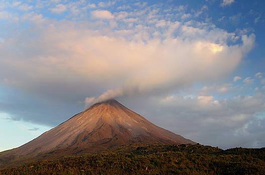 Reimar Gaertner - Cloud expanding from smoke of Arenal Volcano Costa Rica at sunse