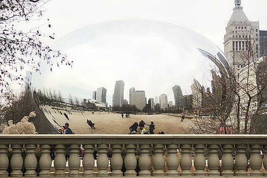 Cloud Gate - A Different View by Mauverneen Blevins
