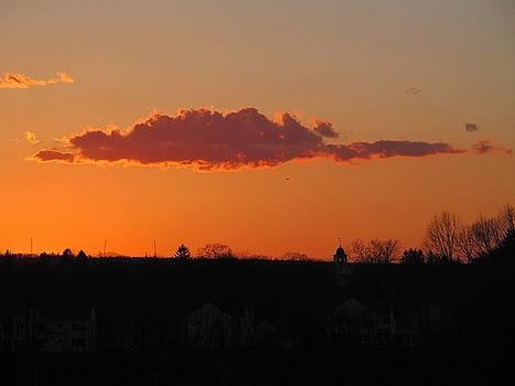 Cloud Glow at Sunset by Loretta Pokorny