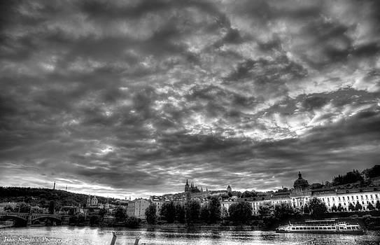 Isaac Silman - cloud in sunset Prague