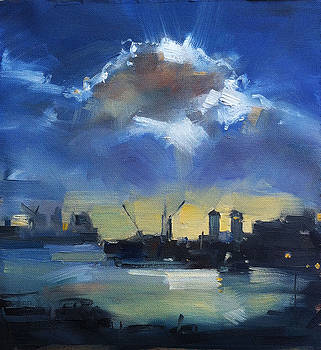 Cloud over Docklands by Roz McQuillan