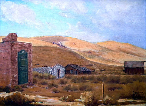 Cloud Shadows Over Bodie California by Evelyne Boynton Grierson