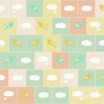 Clouds and birds by Gaspar Avila
