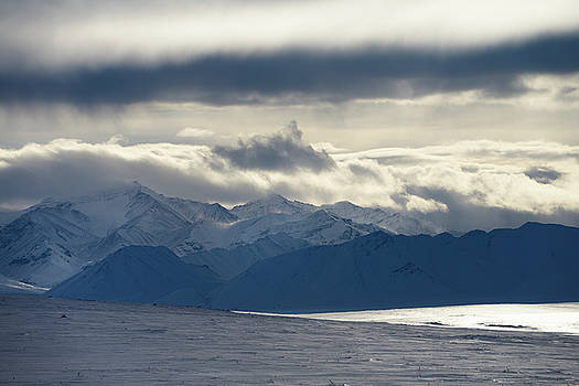 Reimar Gaertner - Clouds and blowing snow in the Brooks Range mountains Alaska fro