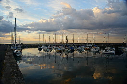 Clouds and Boats by Nik Watt