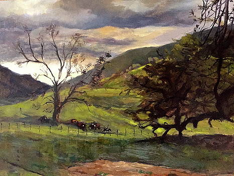 Clouds and cattle by Joyce Snyder