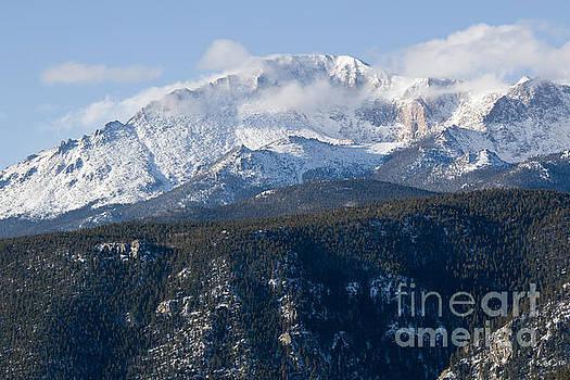 Steve Krull - Clouds and  Snow on Pikes Peak Colorado