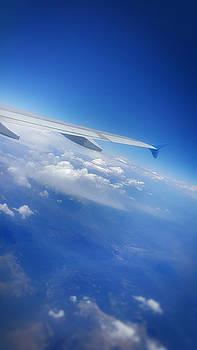 Clouds in flight by LeeAnn Nix