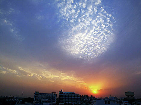 Clouds in the sky by Atullya N Srivastava