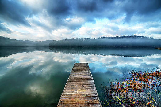 Clouds Mist Lake by Thomas R Fletcher