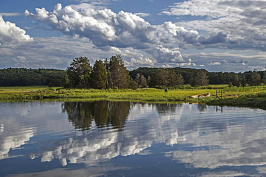 Clouds on Essex River by Elaine Somers