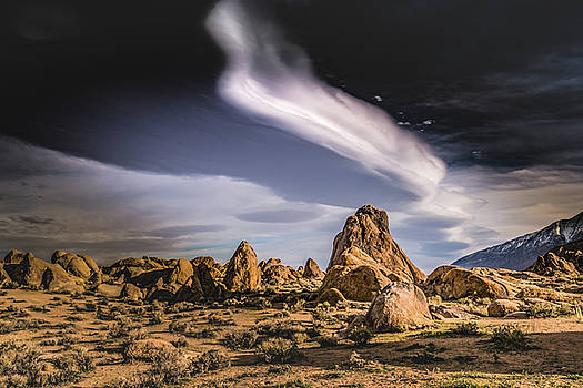 Clouds over Alabama Hills by Janis Knight