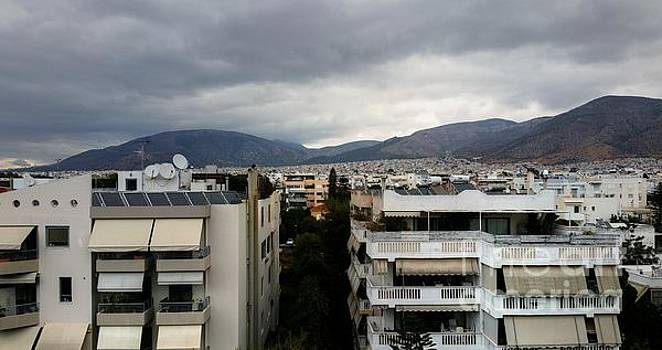 Clouds Over Athens by Vicki Spindler