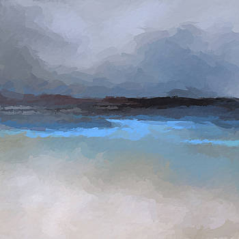 Clouds over beach by Anthony Fishburne